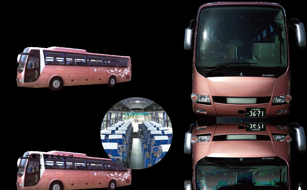 AIR BUSでは、職場や町内会の旅行をはじめ、冠婚葬祭や送迎など様々なシーンで活躍する48~54人乗り(補助席含む)の大型バスをご用意しています。お気軽にお問い合わせください。